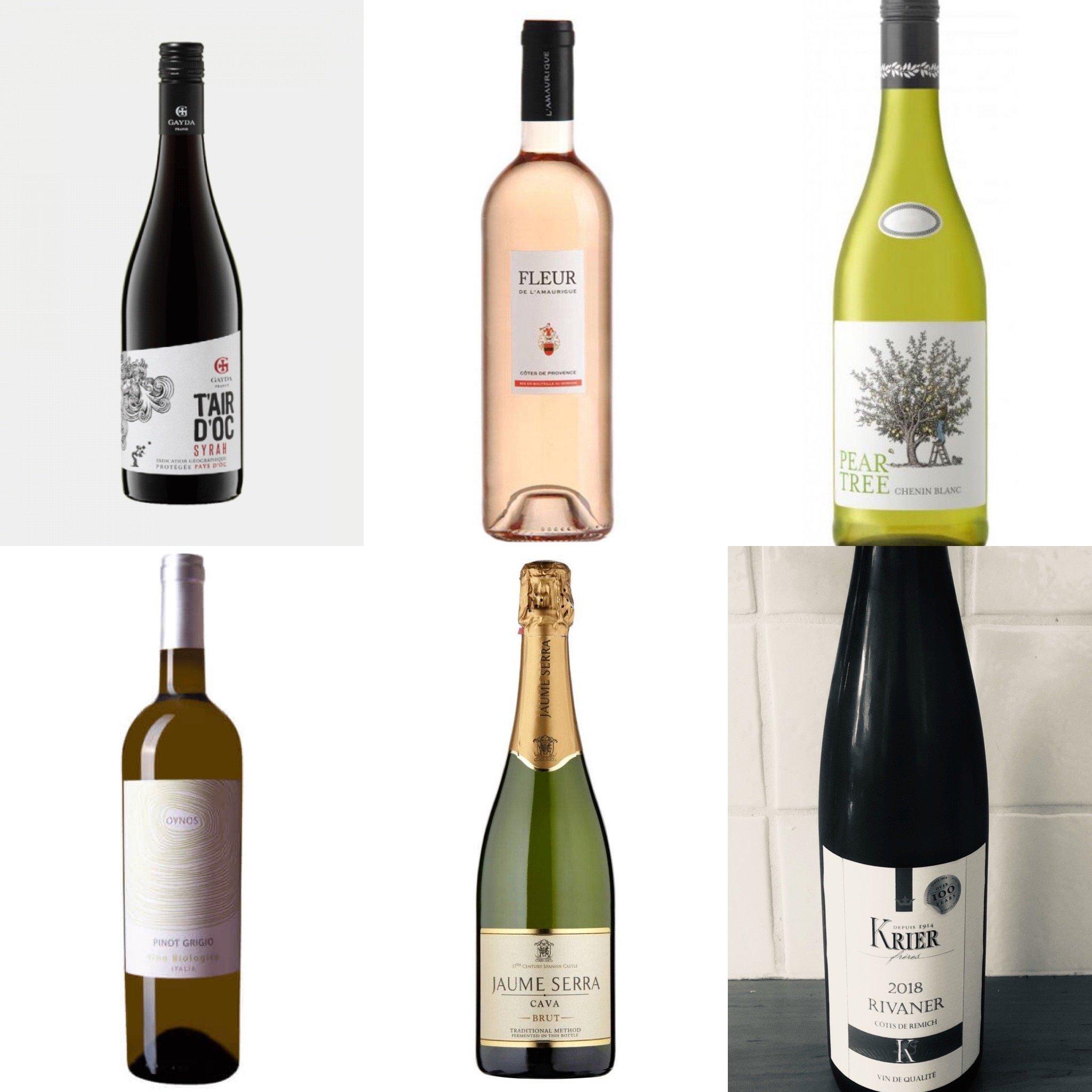 Mooie wijn proefselectie